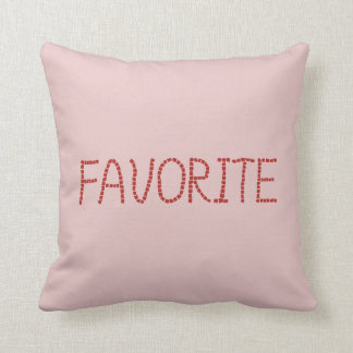 Favorite Polyester Throw Pillow 16'' x 16''