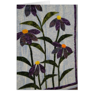 Favorite Quilts & Old Friends, Purple Flowers Card