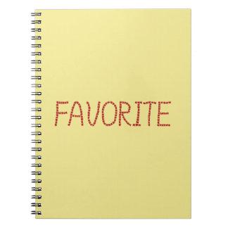 Favorite Spiral Notebook