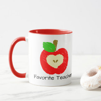 Favorite Teacher Apple Mug