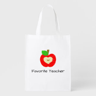 Favorite Teacher Apple Reusable Grocery Bag