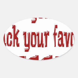 Favorite Team CRIMSON Oval Sticker