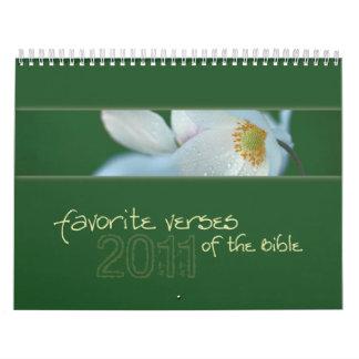 Favorite Verses of the Bible calendar 2011