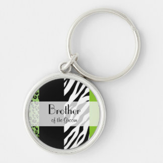 Favors - Animal Print, Zebra, Leopard - Green Key Ring