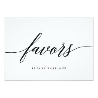 Favors Sign - Modern Script Card