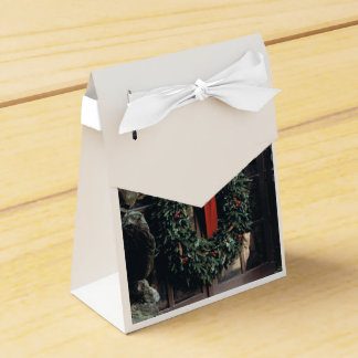 Favour Box with Christmas Wreath Design