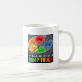 Favourite Colour Is Little Dump Truck Coffee Mug