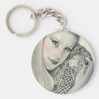 Favourite Doll Basic Round Button Key Ring