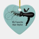 Favourite Hair Stylist Christmas Tree Ornament