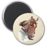 Favourite Horse 6 Cm Round Magnet