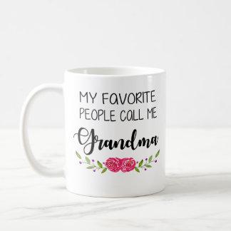 Favourite People Call me Grandma Coffee Mug