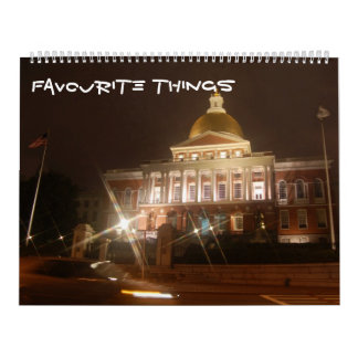 favourite things wall calendars