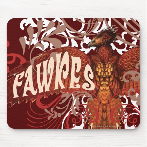 Fawkes Spread Wings Mouse Pad