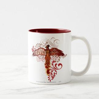 Fawkes Spread Wings Two-Tone Coffee Mug