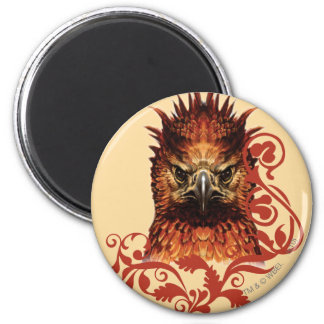Fawkes Staring 6 Cm Round Magnet
