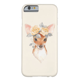 Fawn and yellow roses barely there iPhone 6 case