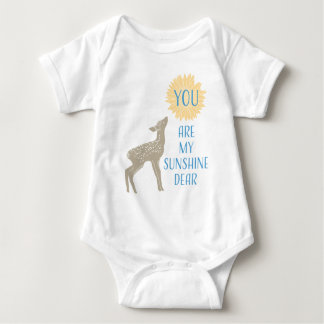 Fawn Baby Deer You Are My Sunshine Baby Bodysuit