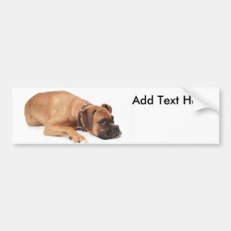 Fawn Boxer Resting Bumper Sticker