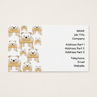Fawn Bulldogs. Business Card