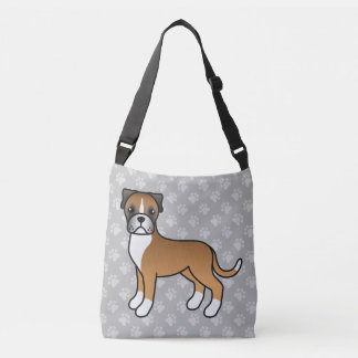 Fawn Cartoon Boxer Dog Tote Bag