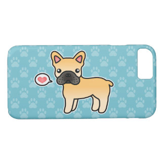 Fawn Cartoon French Bulldog Love iPhone 8/7 Case
