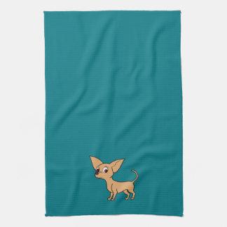 Fawn Chihuahua with Short Hair Tea Towel