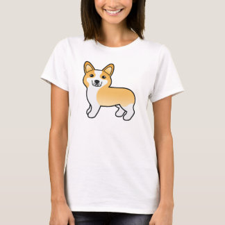 Fawn Cute Cartoon Pembroke Welsh Corgi Dog T-Shirt