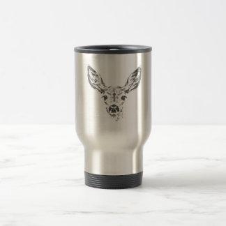 Fawn deer travel mug