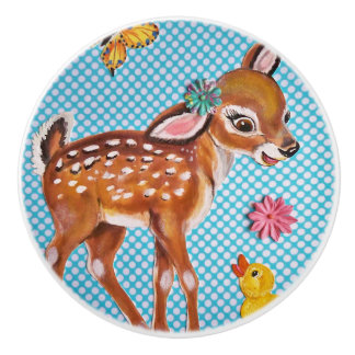 Fawn Duckling Child's Kid's Drawer Pull Door Knob