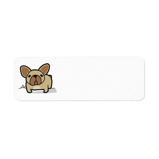 Fawn Frenchie Return Address Label
