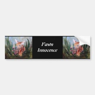 Fawn Innocence Bumper Sticker Car Bumper Sticker
