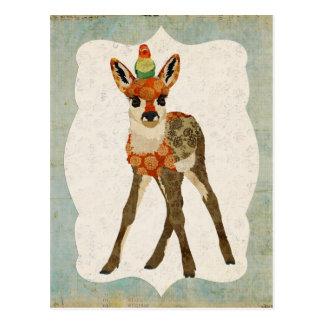 Fawn & Little Bird Postcard