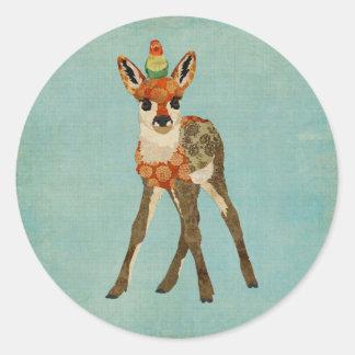 Fawn & Little Bird Sticker