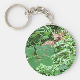 FAWN of Hearts! --- Basic Round Button Key Ring