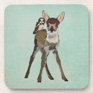 Fawn & Owl Coaster