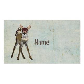 Fawn & Owl Grunge Business Card