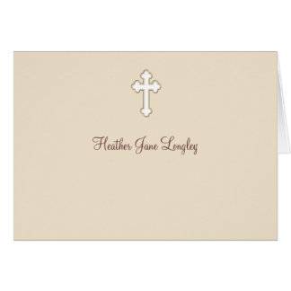 Fawn - Personalized Religious Thank You Notecard