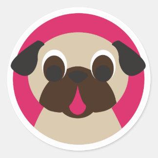 Fawn Pug Head Sticker