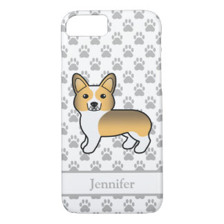 Fawn Sable Cute Welsh Corgi Pembroke With Name iPhone 8/7 Case