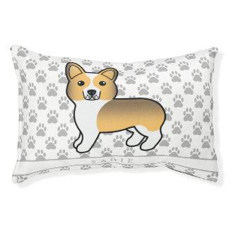 Fawn Sable Pembroke Welsh Corgi Dog And Name Pet Bed