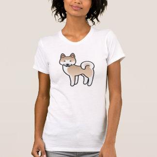 Fawn With White Mask Akita Cartoon Dog T-Shirt
