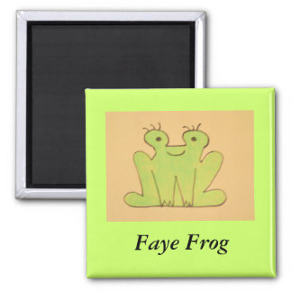 Faye Frog Square Magnet