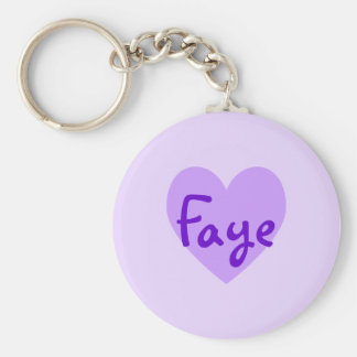 Faye in Purple Key Ring