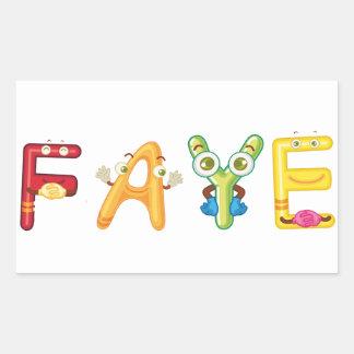 Faye Sticker