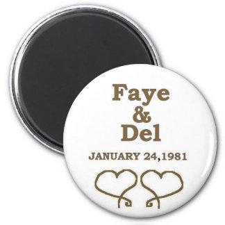 FAYES ANNIVERSARY DATE IN GOLD MAGNET