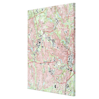 Fayetteville North Carolina Map (1997) Canvas Print