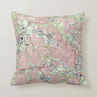 Fayetteville North Carolina Map (1997) Cushion