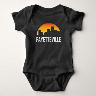 Fayetteville North Carolina Sunset Skyline Baby Bodysuit