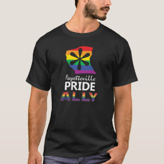 Fayetteville Pride Black Ally Tee