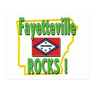 Fayetteville Rocks ! (green) Postcard